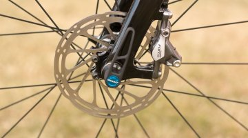 140mm SRAM Centerline rotors are equipped front and rear. © Cyclocross Magazine