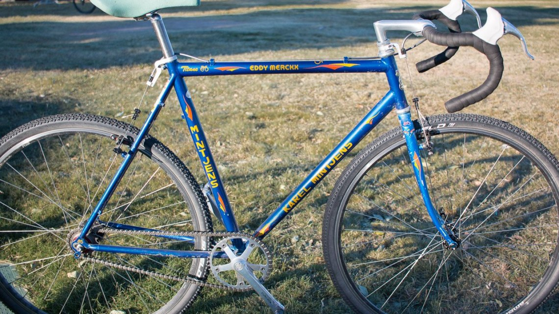 A singlespeed Eddy Merckx Titane spotted at the CrossVegas Wheelers and Dealers race. © Cylocross Magazine
