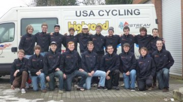 A look back at the first cross camp. Drew Dillman is in the center in the front row with then fellow junior riders. Photo courtesy of Drew Dillman