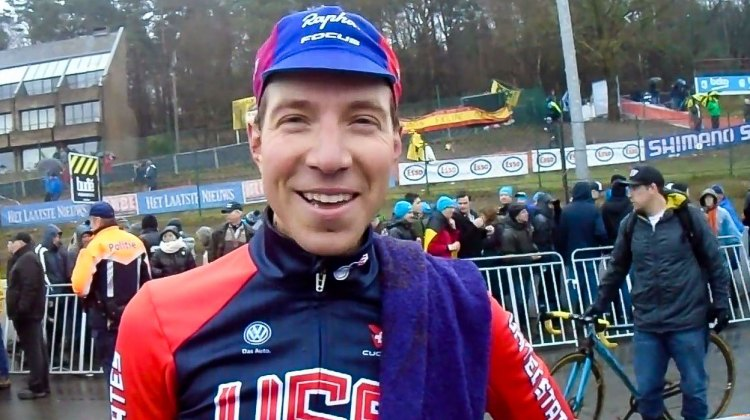 Jeremy Powers, post-race, 2016 Cyclocross World Championships