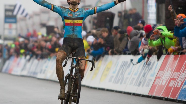 Wout van Aert is your World Champion for 2016. Elite Men, 2016 Cyclocross World Championships. © Pieter Van Hoorebeke / Cyclocross Magazine