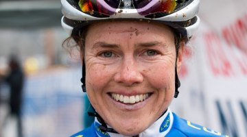 Geogia Gould was all smiles after an action-packed, exhausting week of Cyclocross Nationals. © Cyclocross Magazine