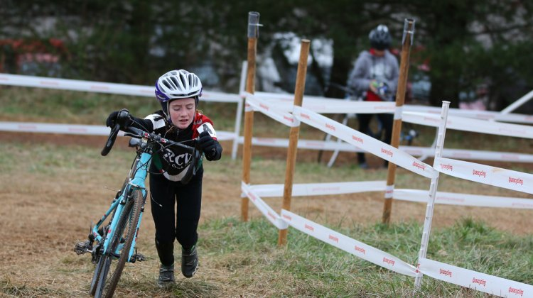 Junior Women 9-10, 2016 Cyclocross National Championships. © Cyclocross Magazine