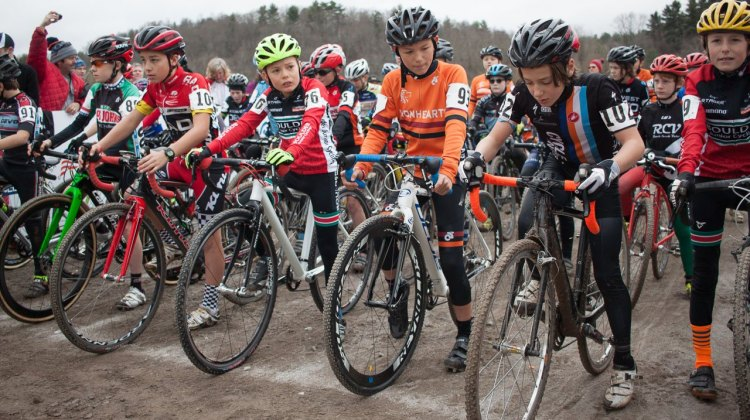 The start line intensity was real in the Junior Men's 10-11 Championship race. 2016 National Championships. ©  Cyclocross Magazine