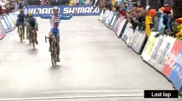 Adam Toupalik thinks he won the U23 World Title in Zolder, but sprinted one lap early.