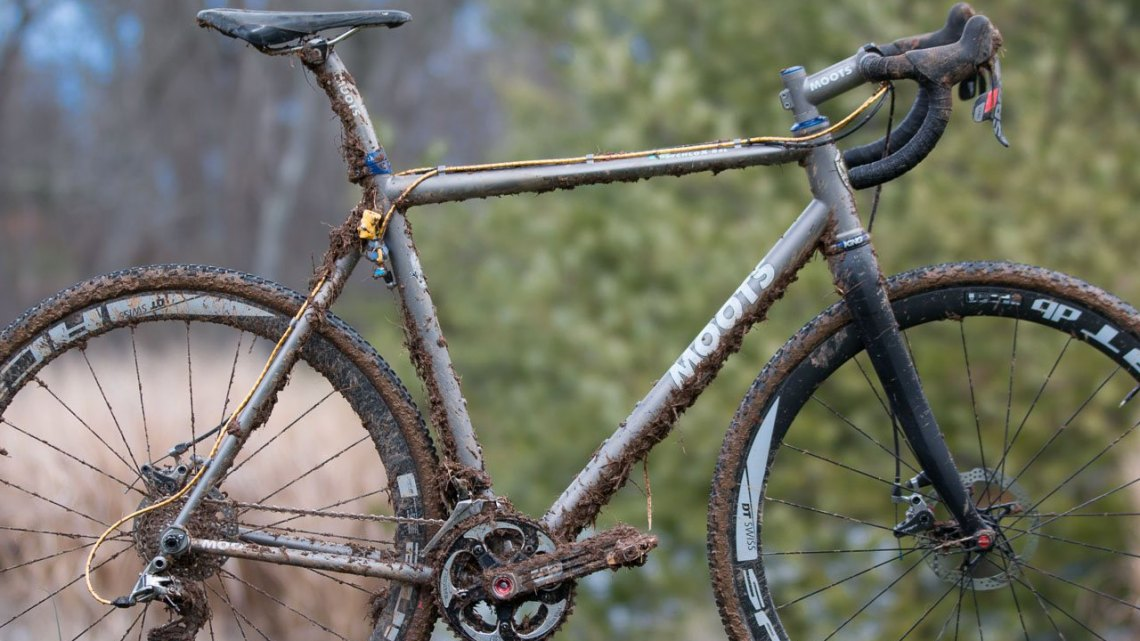 Gage Hecht's Moots Pscyhlo-X. 2016 Cyclocross Nationals & Worlds bikes. © Cyclocross Magazine