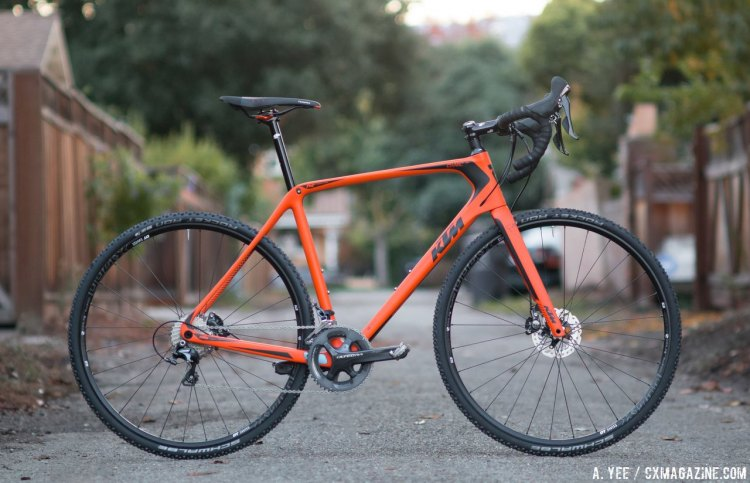 Ktm canic cxc cyclocross bike is at home on the cyclocross coure but