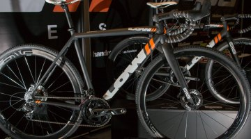Low Bicycles, of San Francisco, is branching out from fixed gear and track cycles into cross and gravel. This is the company's very first cx bike. NAHBS 2016. © Cyclocross Magazine