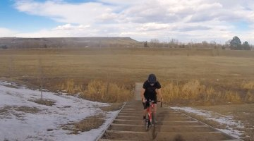 Will Doherty hops 20 stairs without pedaling.