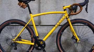 """Hunter Cycles' fillet brazed """"road plus"""" bike was contender for the people's choice award at this year's NAHBS. © Cyclocross Magazine"""