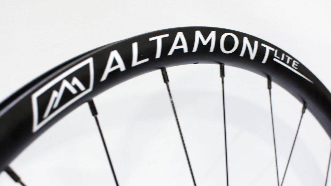 The Altamont Lite wheelset looks to be a versatile wheelset, and is available with axle caps for all axle options and tubeless tape and valves. $750/set. NAHBS 2016. © Cyclocross Magazine