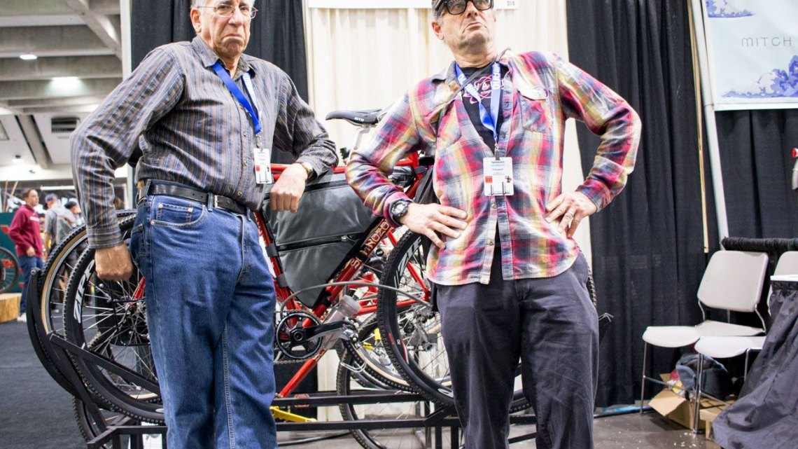 Paul Sadoff and Bruce Gordon's Schnozola line of do-it-all bikes. NAHBS 2016. © Cyclocross Magazine