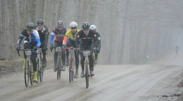 The break as the snow came down. The Lowell 50. © Michael Mielock