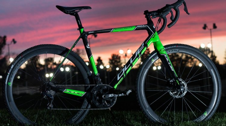 Blue Competition Bicycles' Norcross EX Di2. © Cyclocross Magazine