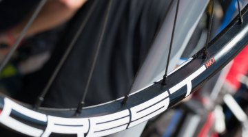 NoTubes' Crest wheels have went up a bit in price, going from $650 to $679. Rims are now $100. Rear Neo hub now features replaceable caps for different axle configurations. Sea Otter Classic 2016. © Cyclocross Magazine