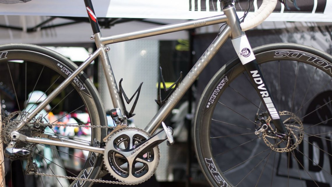 Ndvr Ravi titanium travel bike. Sea Otter Classic 2016. © Cyclocross Magazine