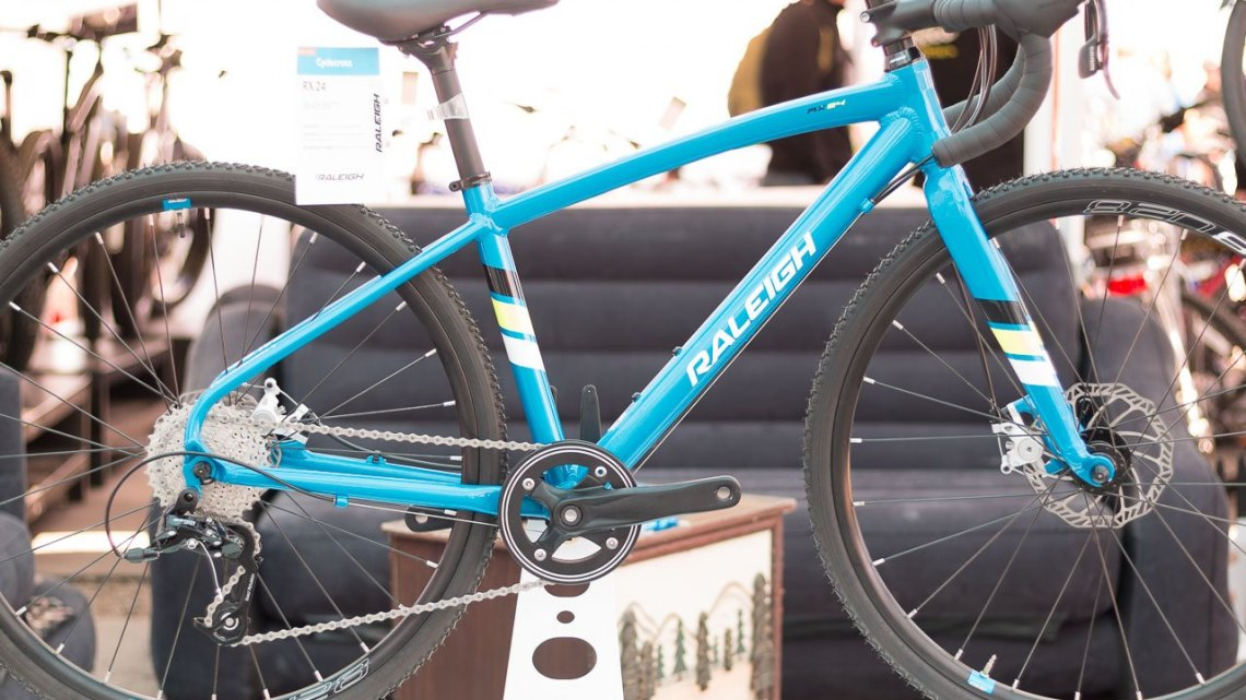 Raleigh's new RX24 kid's cyclocross bike. Sea Otter Classic 2016. © Cyclocross Magazine