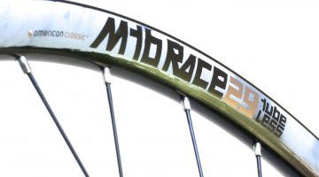 American Classic MTB Race 29er tubeless wheels offer a nice mix of weight, price and reliability. © Cyclocross Magazine
