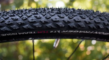 "The new LT2 TLR tubeless gravel tire from Bontrager is originally a hybrid tire, but the TLR Team Issue is intended for ""gravel, paths, roads, and alleys."" © Cyclocross Magazine"