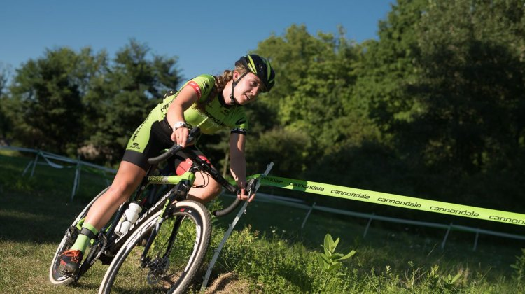 Emma White warming up on the Pawling NY race course. © Chris McIntosh / Cyclocross Magazine