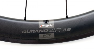 Vittoria Qurano 46 Graphene Carbon Tubular Wheelset weighs 1340g and has a suggested retail of $2250. © C. Lee / Cyclocross Magazine
