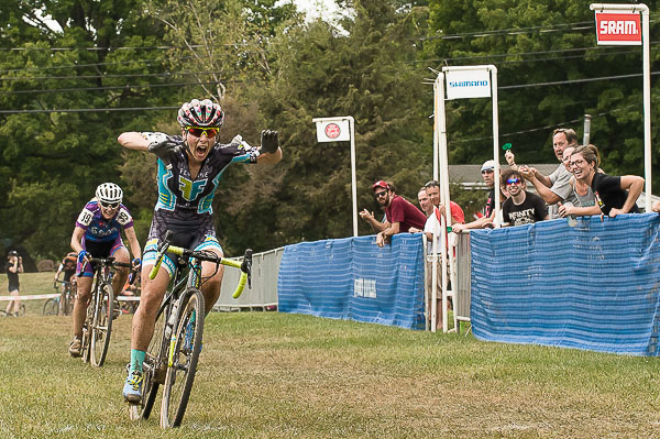 Arley Kemmerer sprints to victory - 11th Annual 2016 Nittany Lion Cross Day 2. Breinigsville, PA © Todd Leister  Leister Images