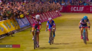 Sophie de Boer wins the 2016 CrossVegas World Cup in dramatic come-from-behind fashion.