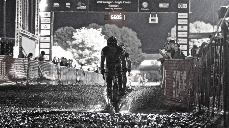 Mother Nature rewarded Iowa with epic rain the night before, and epic mud on race day. 2016 Jingle Cross Day 1, Elite Men. © D. Mable / Cyclocross Magazine
