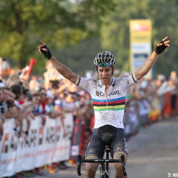 Wout van Aert stays undefeated in the States over the last two years. © D. Mable / Cyclocross Magazine