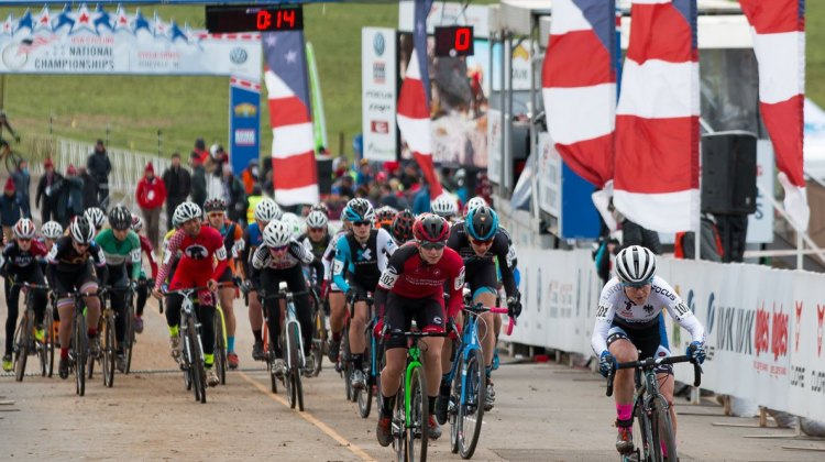 The Northwest Women's Cyclocross Project aims to have two contenders for the Junior and U23 Women titls in 2017. photo: 2016 Cyclocross National Championships. © Cyclocross Magazine