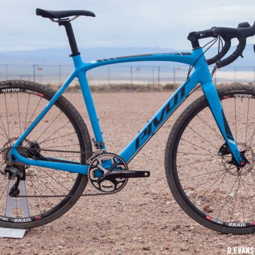 Pivot's only cyclocross offering for 2017 on display at this year's Interbike Outdoor Demo. The Pivot Vault with the Ultegra Pro build kit retails for $3999 USD. © Cyclocross Magazine