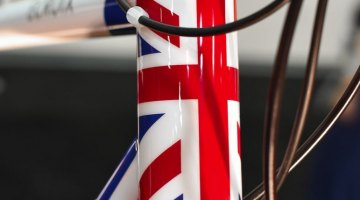 The union jack paint scheme points to the bike's origin © C. Lee / Cyclocross Magazine