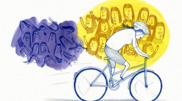 Stay positive on the bike, in training and racing. art: Welcome Images