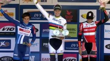 Thalita de Jong tops the podium for the women in Ronse.