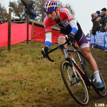 Mathieu Van Der Poel (NED) leading during the 2016 Zeven UCI Cyclocross World Cup Elite Men's race. © C. Jobb / Cyclocross Magazine