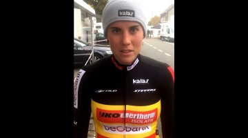 Sanne Cant interview after the 2016 Koppenbergcross cyclocross race.