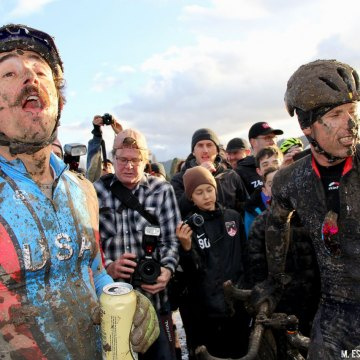 A sight we certainly didn't expect in 2007. 2016 SSCXWC Men's Finals. © M. Estes / Cyclocross Magazine