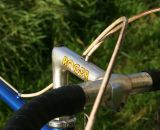 Custom drilled 3T stem kept the brake cable routing clean.  © Stephan Wijland