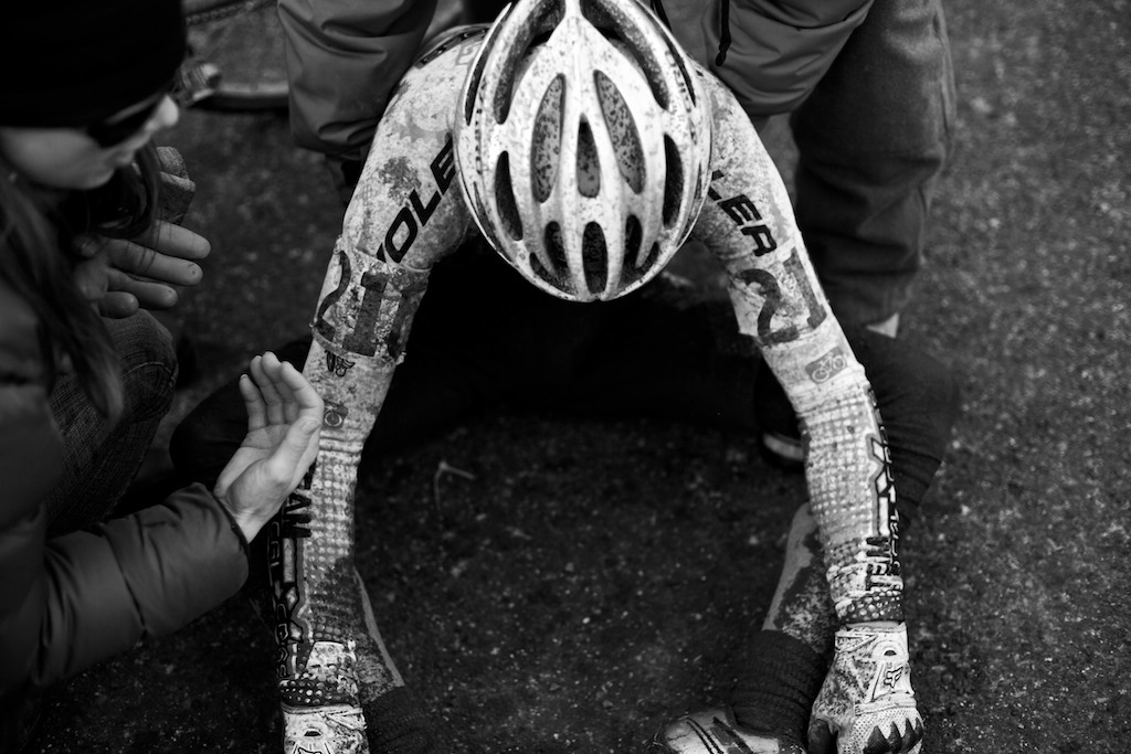 Ryan Morgan, U23, in pain. ? Joe Sales