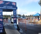 A start ramp was built but not used due to the icy pavement earlier in the day. © Cyclocross Magazine