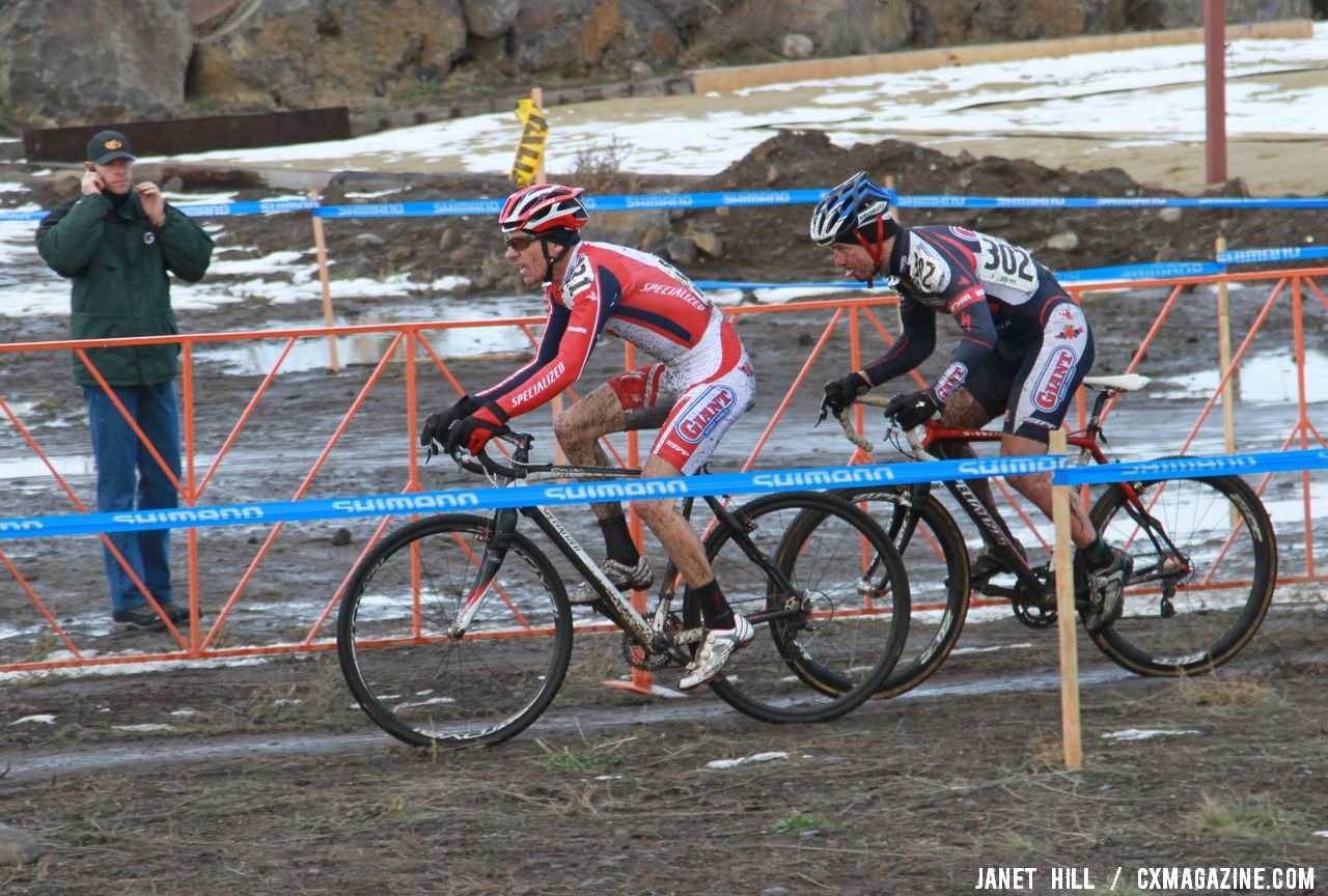 The two Specialized riders worked to drop Curley. © Janet Hill© Janet Hill