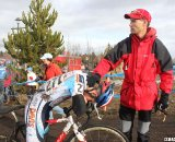 Karch Millar happy the race is over. © Cyclocross Magazine