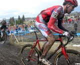 Baker (l) chases to get to the front. © Cyclocross Magazine