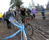 Stevenson feels Baker coming up from behind. © Cyclocross Magazine