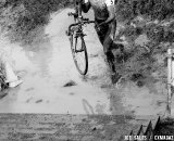 The puddle at the stairs was so deep it covered the bottom stair. U23 Race, 2010 Cyclocross National Championships © Joe Sales