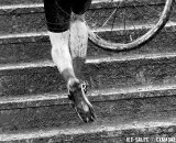 The stairs got slick with mud. U23 Race, 2010 Cyclocross National Championships © Joe Sales
