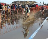 Powers gets the puddle-shot. 2010 USA Cycling Cyclocross National Championships. © Cyclocross Magazine
