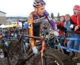 Trebon finished second for the second straight year. 2010 USA Cycling Cyclocross National Championships. © Cyclocross Magazine
