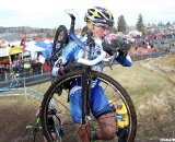 Amy Dombroski had a tough battle and disappointing race after last year's third place. 2010 Cyclocross National Championships, Women's Race. © Cyclocross Magazine