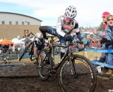 Sue Butler leads Sherwin in their 3-way race among teammates for fourth. 2010 Cyclocross National Championships, Women's Race. © Cyclocross Magazine